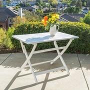 Latitude Run Zenodotus Dining Table; White