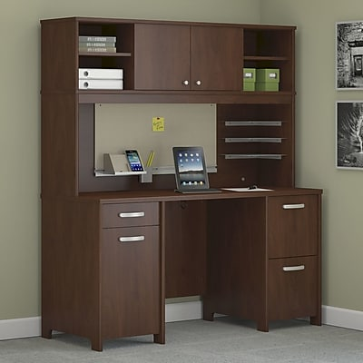 Image of Latitude Run Envoy 2 Piece Desk Office Suite; Hansen Cherry