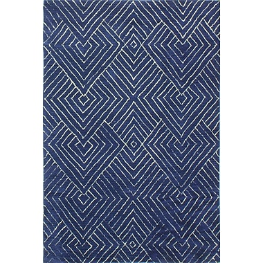 Latitude Run Bryden Hand-Tufted Navy Area Rug; 3'6'' x 5'6''