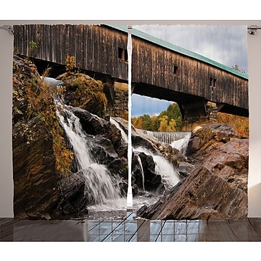 Latitude Run Tressa Graphic Print & Text Semi-Sheer Rod Pocket Curtain Panels (Set of 2)
