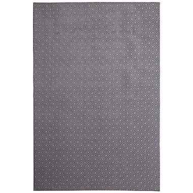 Latitude Run Bettie River Hand-Tufted Stone Gray Area Rug; 9' x 12'