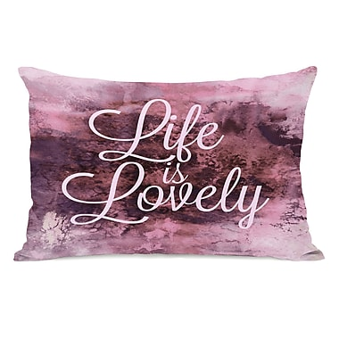 Latitude Run Foundry Life Is Lovely Lumbar Pillow