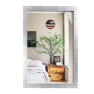 Latitude Run Wood Wall Mirror; 35.5'' H