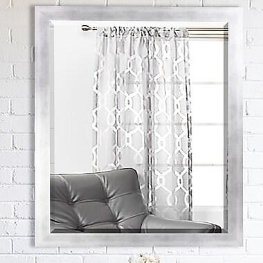 Latitude Run Wood Wall Mirror; 35.5'' H x 35.5'' W x 0.75'' D