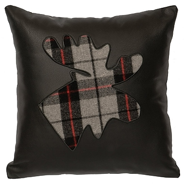 Loon Peak Shea Plaid Moose Throw Pillow