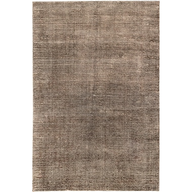 Latitude Run Don Transitional Hand Knotted Dark Brown Area Rug