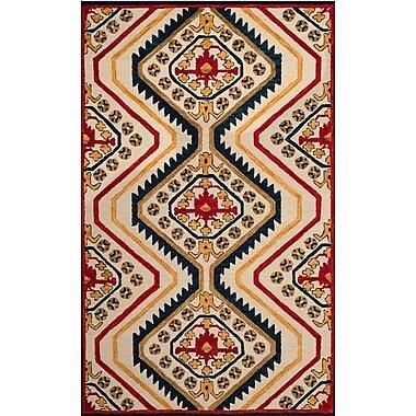 Loon Peak Aldwich Hand-Tufted Multi-Color Area Rug; Rectangle 8' x 10'