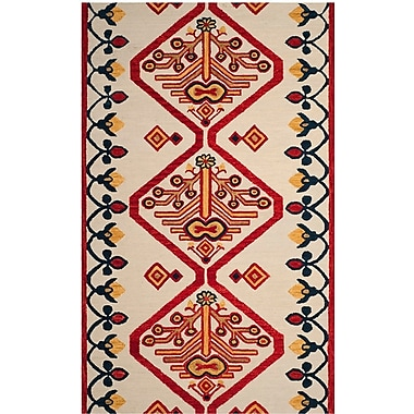 Loon Peak Aldwich Hand-Tufted Multi-Color Area Rug; Rectangle 2' x 3'