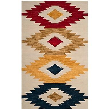 Loon Peak Aldwich Hand-Tufted Multi-Color Area Rug; Rectangle 2' x 3'