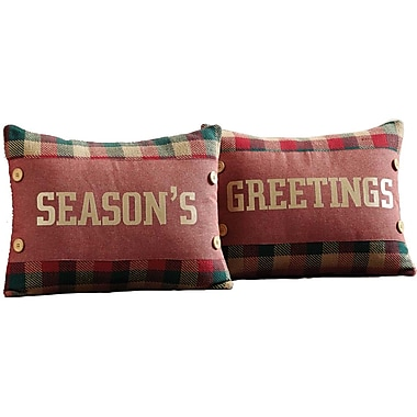 Loon Peak Reed 2 Piece Embroidered Cotton Throw Pillow Set