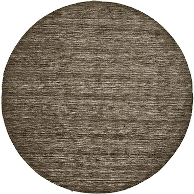 Loon Peak Joel Hand-Woven Brown Area Rug; Round 8'