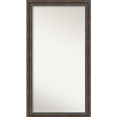Loon Peak Rockwood Rustic Pine Wood Wall Mirror; 33'' H x 60'' W x 0.75'' D