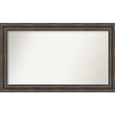 Loon Peak Rockwood Rustic Pine Wood Wall Mirror; 45'' H x 27'' W x 0.75'' D