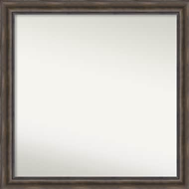 Loon Peak Rockwood Rustic Pine Wood Wall Mirror; 40'' H x 40'' W x 0.75'' D