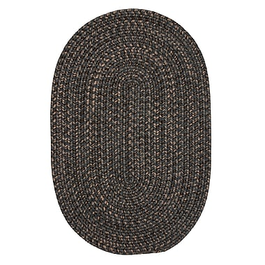 Loon Peak Abey Charcoal Area Rug; Oval Runner 2' x 12'