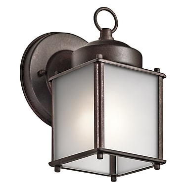 Loon Peak Medomak 1-Light Outdoor Wall Lantern ; Tannery Bronze