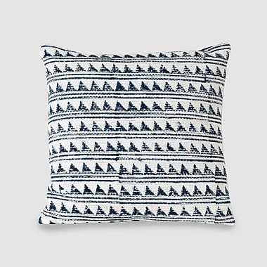 Longshore Tides Glover Spun Threads w/ a Soul Triangle Waves 100pct Cotton Throw Pillow