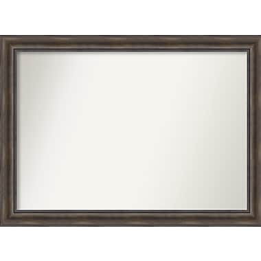 Loon Peak Rockwood Rustic Pine Wood Wall Mirror; 48'' H x 35'' W x 0.75'' D