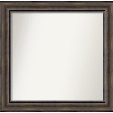 Loon Peak Rockwood Rustic Pine Wood Wall Mirror; 31'' H x 30'' W x 0.75'' D