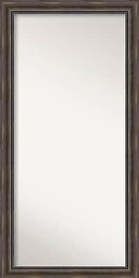 Loon Peak Rockwood Rustic Pine Wood Wall Mirror; 30'' H x 60'' W x 0.75'' D