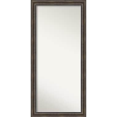 Loon Peak Rockwood Rustic Pine Wood Wall Mirror; 30'' H x 63'' W x 0.75'' D