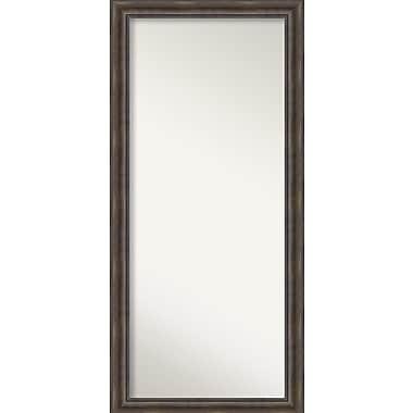 Loon Peak Rockwood Rustic Pine Wood Wall Mirror; 30'' H x 64'' W x 0.75'' D