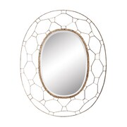 Mercer41 Antique Gold Metal Accent Wall Mirror