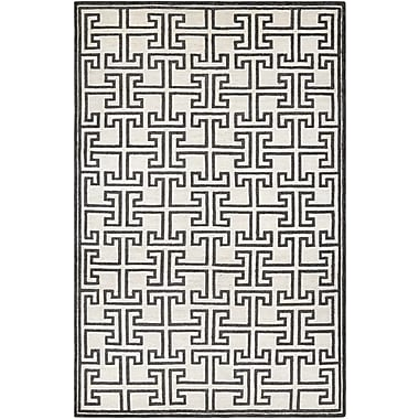 Mercer41 Bridlington Hand-Crafted Off White/Smoke Area Rug; 6' x 11'
