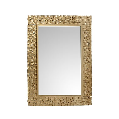 Mercer41 Rectangular Gold Mirror