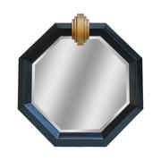 Mercer41 Deco Medallion Shiny Black Mirror