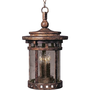 Loon Peak Bismark 3-Light Outdoor Hanging Lantern