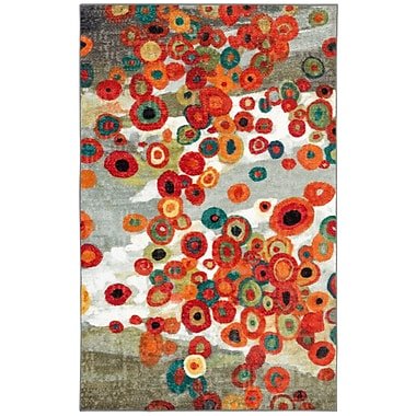 Latitude Run Burwood Tossed Floral Multi Printed Area Rug; Rectangle 2'6'' x 3'8''