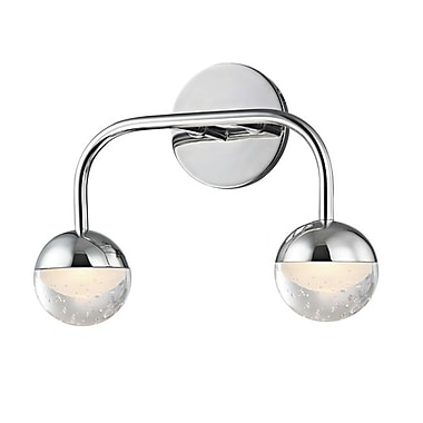 Mercer41 Raze 2-Light LED Vanity Light; Polished Chrome