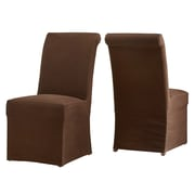 One Allium Way Lefebre Parson Chair (Set of 2); Brown