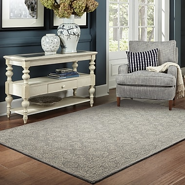 One Allium Way Theroux Hand-Tufted Gray Area Rug; 3'6'' x 5'6''