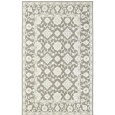 One Allium Way Theroux Hand-Tufted Oriental Gray Area Rug; 3'6'' x 5'6''