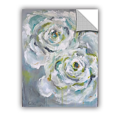 One Allium Way Corr ze Two White Roses Wall Mural; 24'' H x 18'' W x 0.1'' D