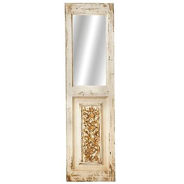 One Allium Way Distressed Detail Panel Wall Mirror