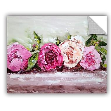One Allium Way Row of Peonies Wall Mural; 18'' H x 24'' W x 0.1'' D