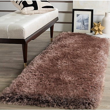 Mercer41 Bevan Shag Hand-Tufted Taupe Area Rug; Rectangle 3' x 5'