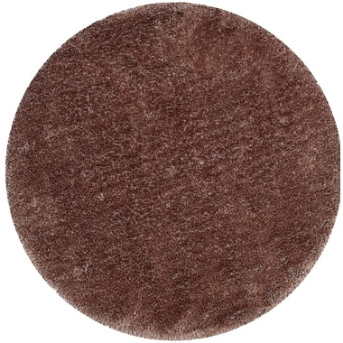 Mercer41 Bevan Shag Hand-Tufted Taupe Area Rug; Round 6'