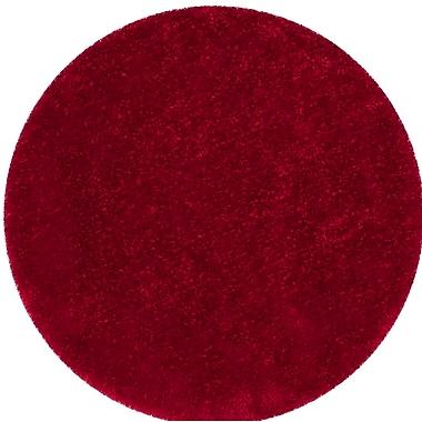 Mercer41 Bevan Shag Hand-Tufted Red Area Rug; Round 6'