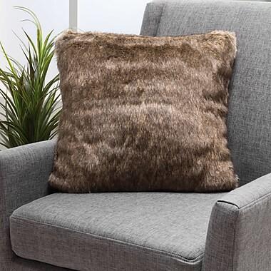Mercer41 Stony Stratford Plush Fabric Throw Pillow; Dark Brown