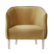 Mercer41 Baver Velvet Barrel Chair; Gold