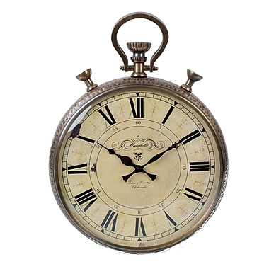 One Allium Way 14'' Round Copper Wall Clock