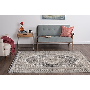One Allium Way Korra Gray Area Rug; 7'6'' x 10'3''