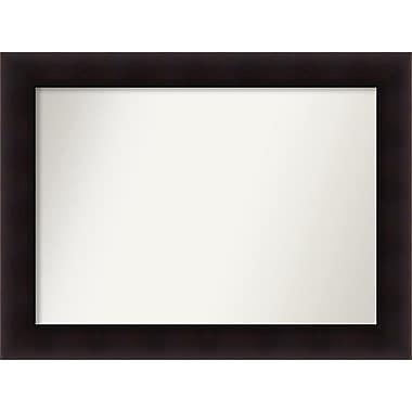Red Barrel Studio Rectangle Wood Wall Mirror; 26.63'' H x 35.63 W'' x 0.88'' D