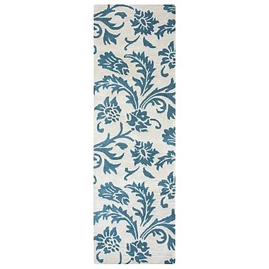 One Allium Way Ostrander Hand-Tufted Blue/Beige Area Rug; 5' x 8'