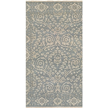 One Allium Way Eugenie Hand-Knotted Blue Area Rug; 9'6'' x 13'9''