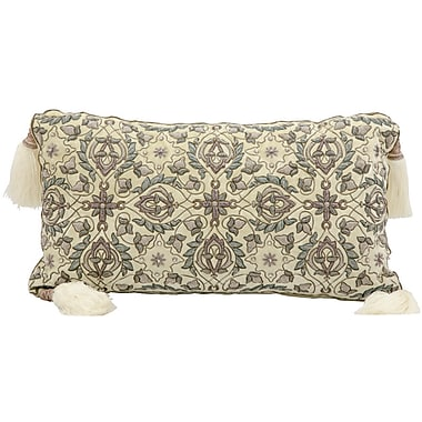One Allium Way Pouliot Wire Embroidery Lumbar Pillow